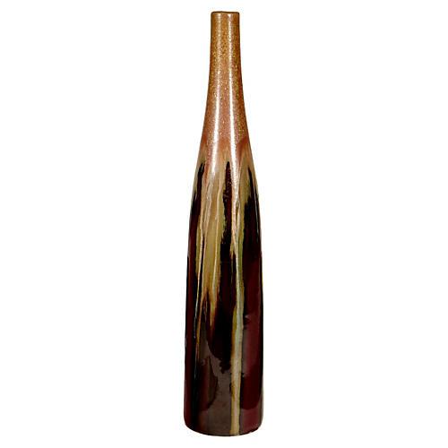 1960s Tall Drip Glaze Vase