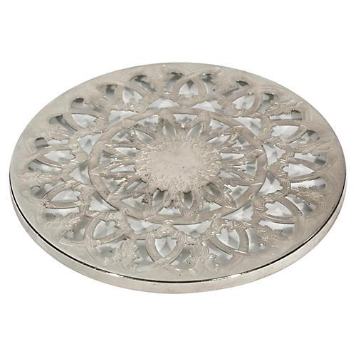Silver Plate & Glass Trivet