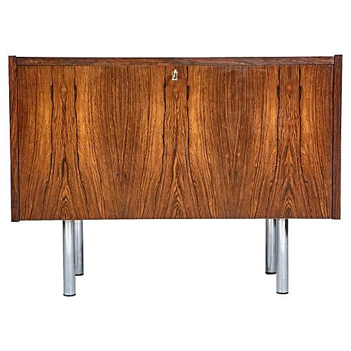 Danish Rosewood Drop-Front Cabinet
