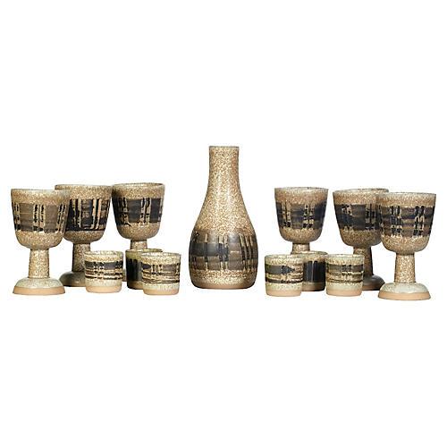 Gordon Martz Ceramic Beverage Set 13-Pcs