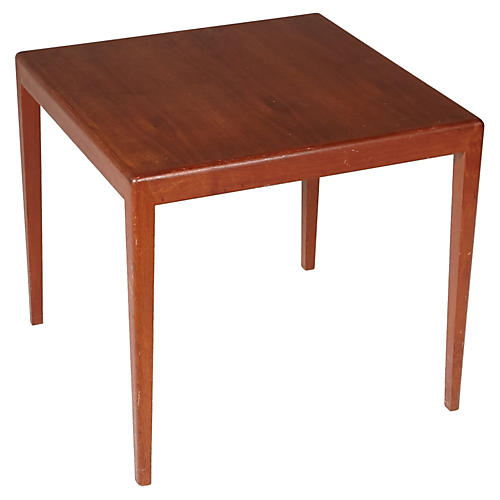 1960s Square Teak Side Table