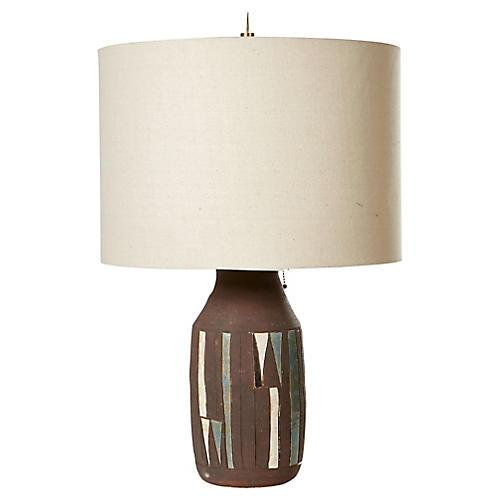 1960s Ceramic Multicolored Table Lamp