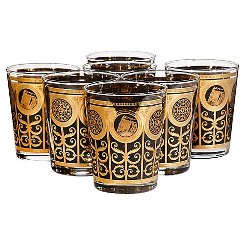 1960s Large Old Fashioned Tumblers, S/7