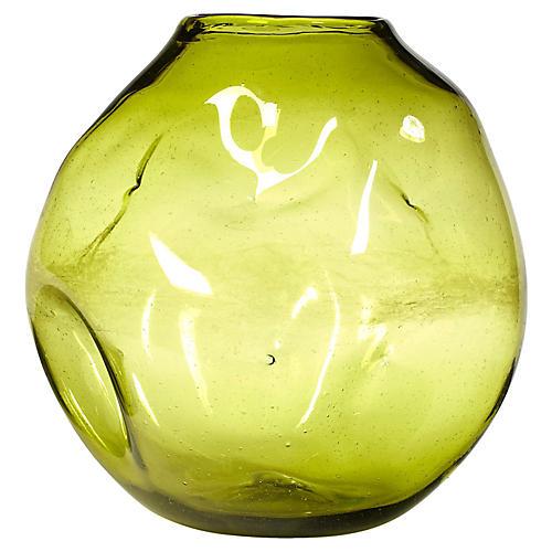1960s Blenko-Style Glass Vase