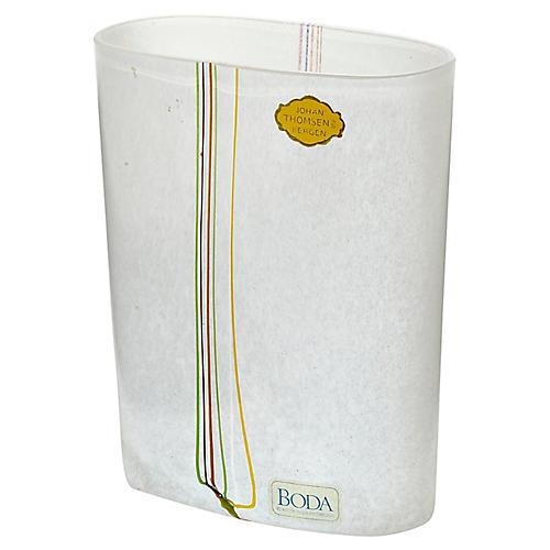 1960s Kosta Boda Glass Vase