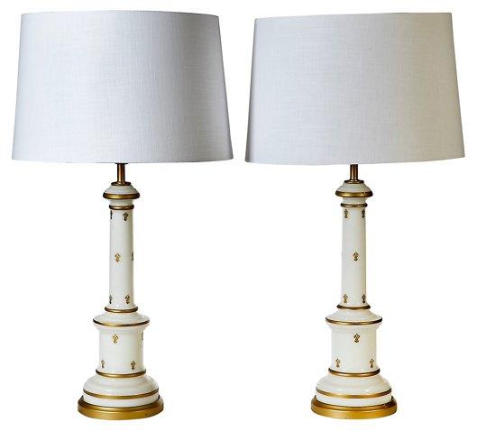 1960s glass gilt accented table lampspr 2 b modern brands one kings lane