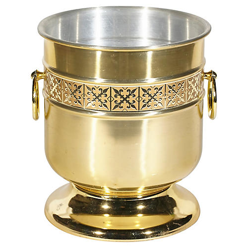 Kromex Gilt Metal Champagne Bucket
