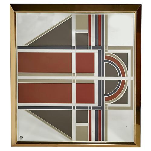 1970s Greg Copeland Wall Mirror