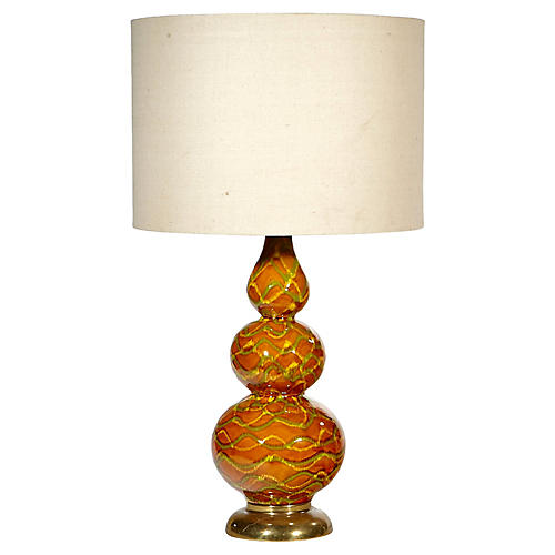 1960s Multicolored Stacked Table Lamp