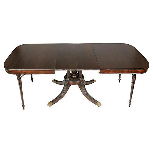 Regency Style Mahogany Dining Room Table