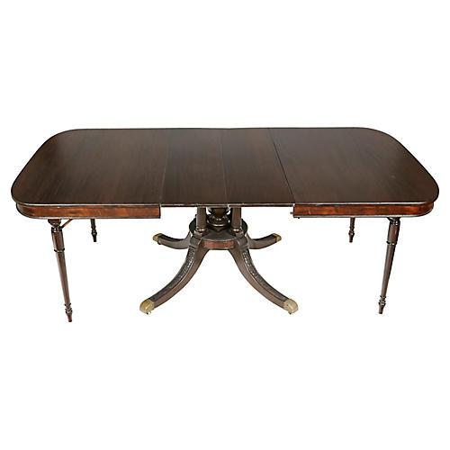 Regency Style Mahogany Dining Room Table Vintage2 B Modern