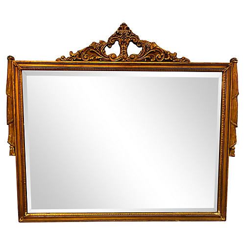 Neoclassical Gilt Framed Wall Mirror