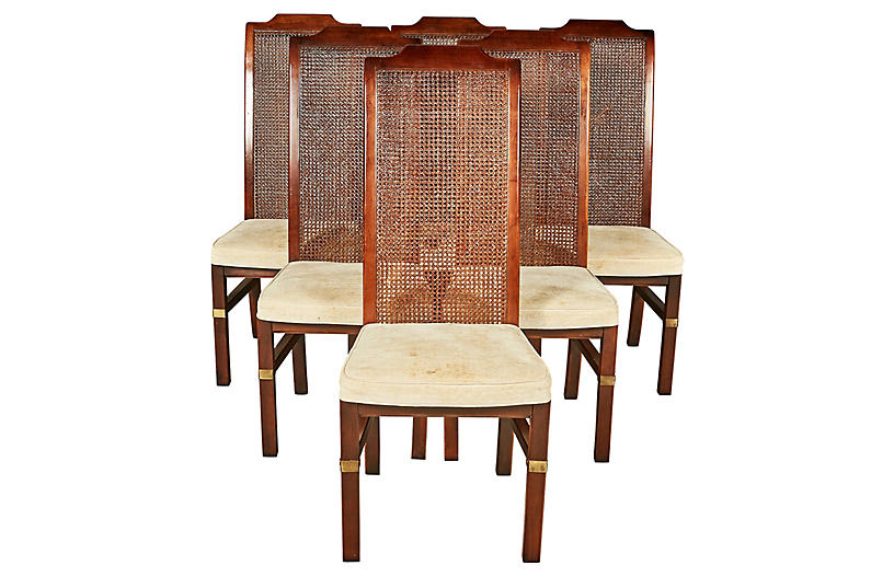 Sensational Henredon Caned Dining Room Chairs S 6 2 B Modern Top Inzonedesignstudio Interior Chair Design Inzonedesignstudiocom