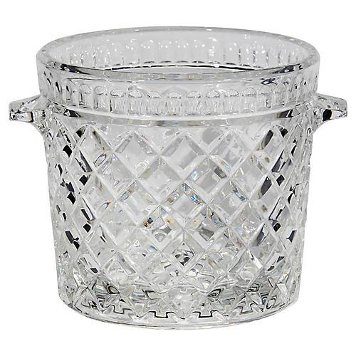 Waffle Design Glass Ice Bucket
