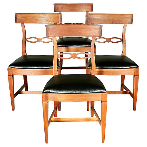 1950s Kindel Dining Room Chairs, S/4