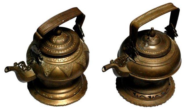 Tibetan Teapots, Pair