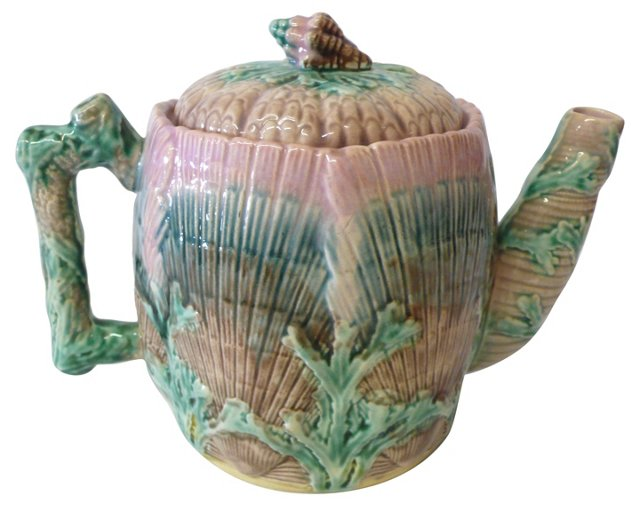 19th-C. Etruscan Teapot