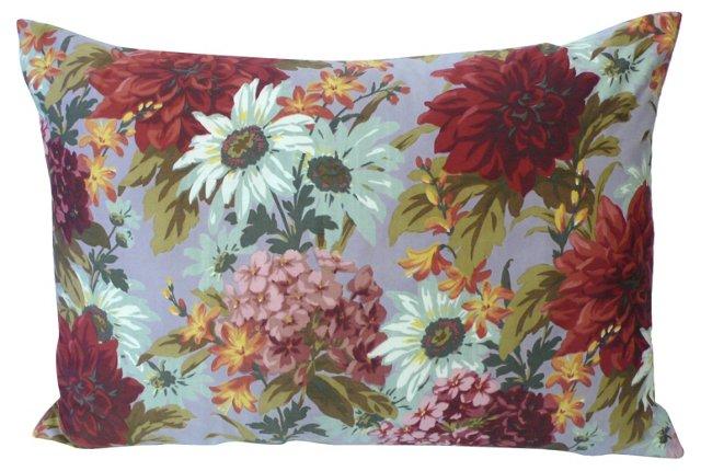 Flowers & Checks   Pillow