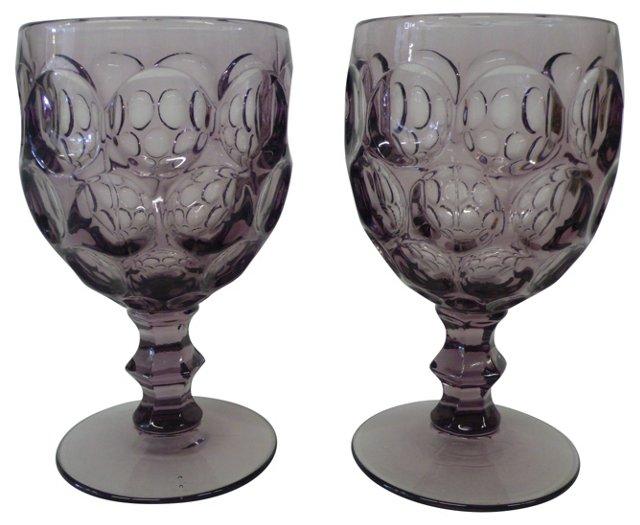 Purple Goblets, Pair