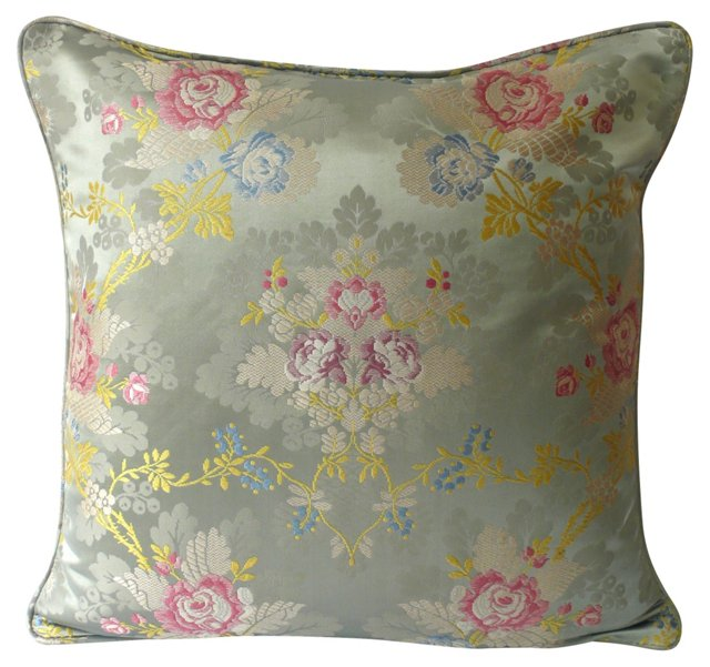 Celadon Silk Pillow