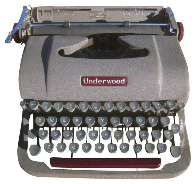 Underwood Typewriter & Case