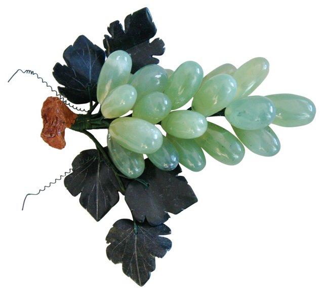 Translucent Green Jadeite Grape Cluster