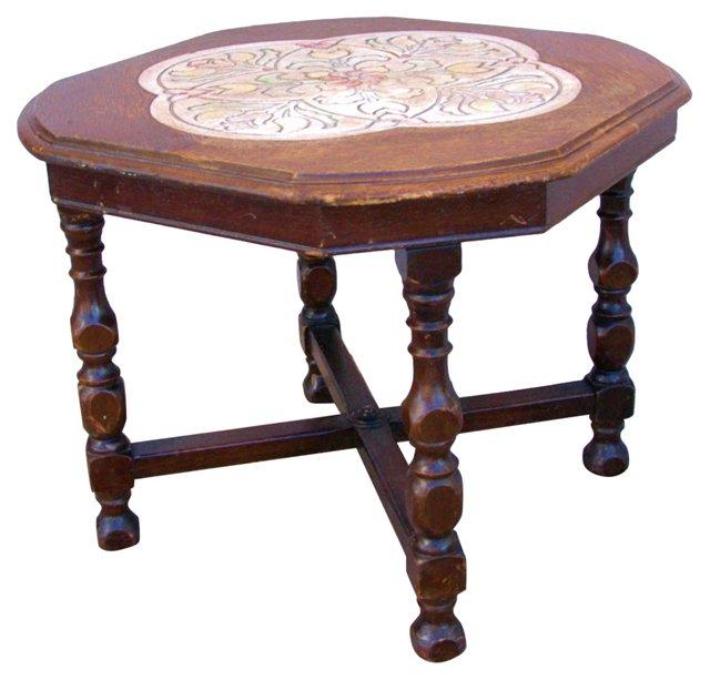 California Oak & Tile Table