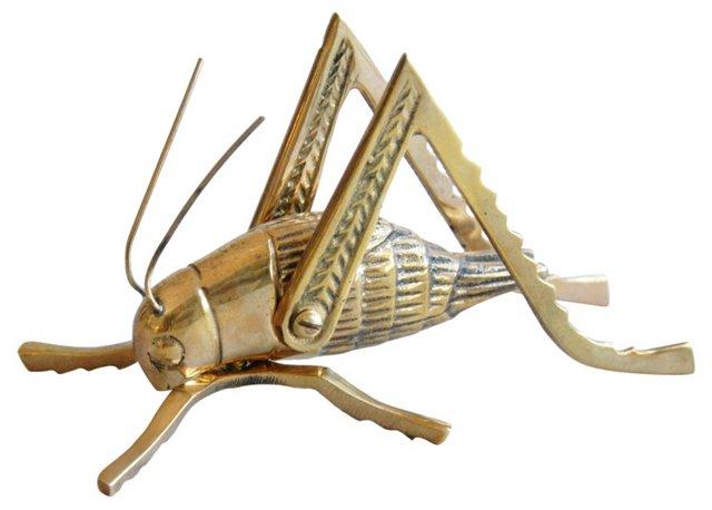 Midcentury Brass Grasshopper