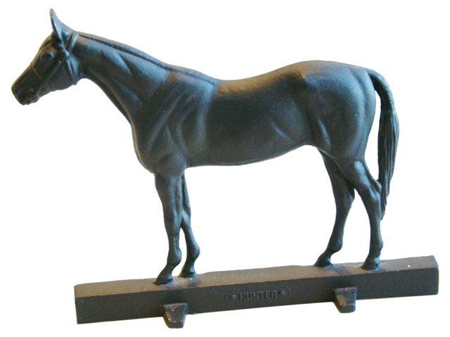 1940s Cast Iron Horse   Doorstop