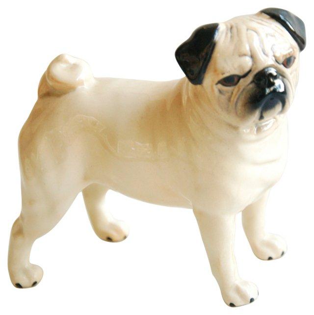 1960s Beswick Pug Dog Figurine