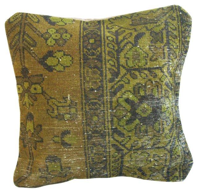 Overdyed Turkish Carpet Pillow