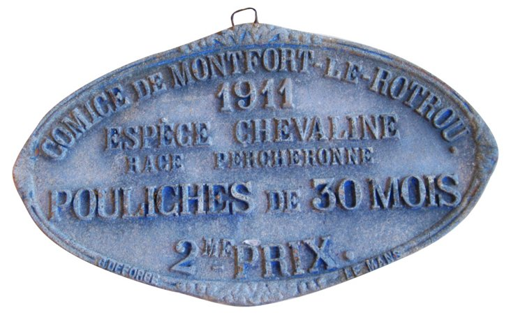 French  Award Plaque, 1911