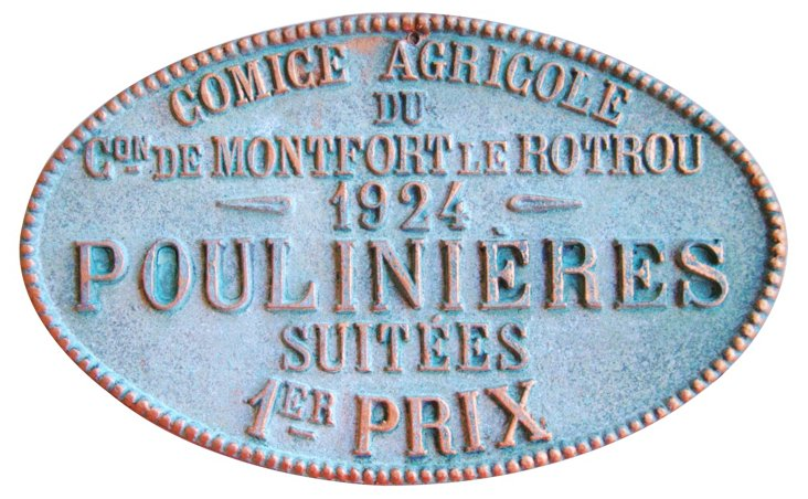 French Agricultural Award Plaque, 1924