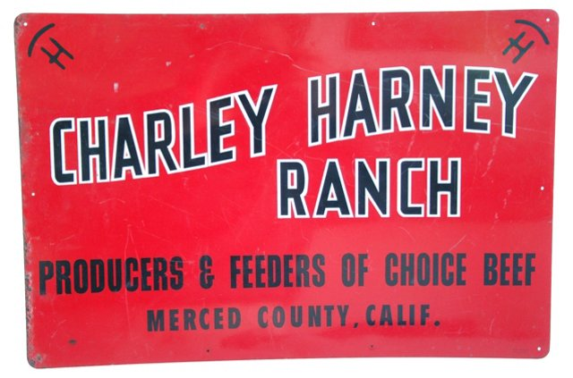1950s Cattle Ranch Sign