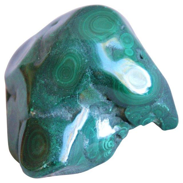 Polished Emerald Malachite Paperweight