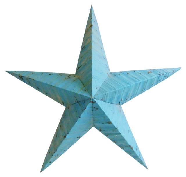 Blue        Metal Star