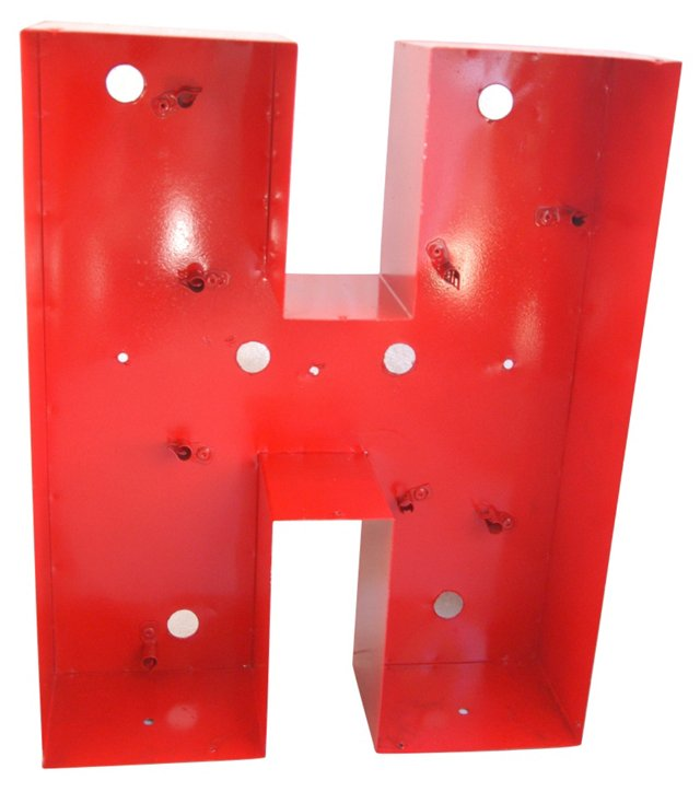 1970s Metal Marquee Letter H