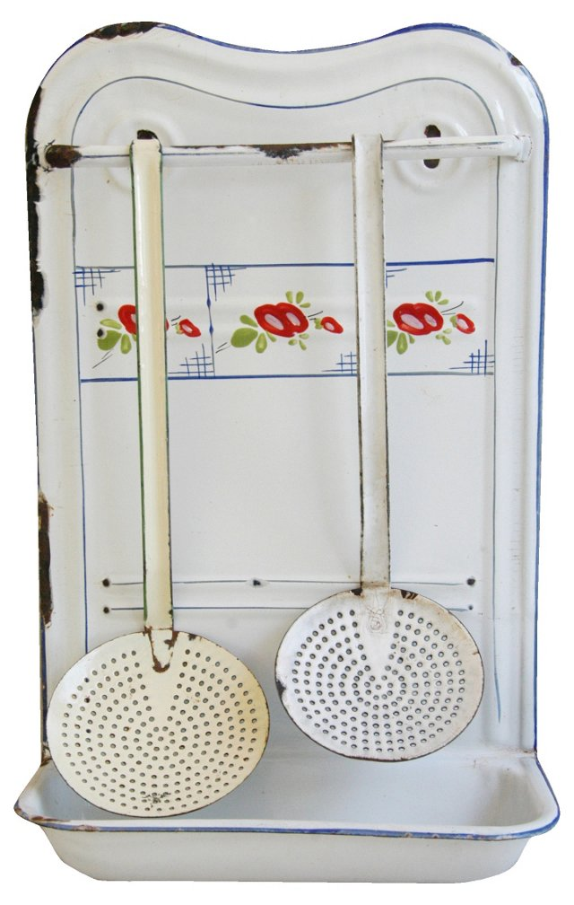 1930s French Towel & Utensil Rack, 3 Pcs