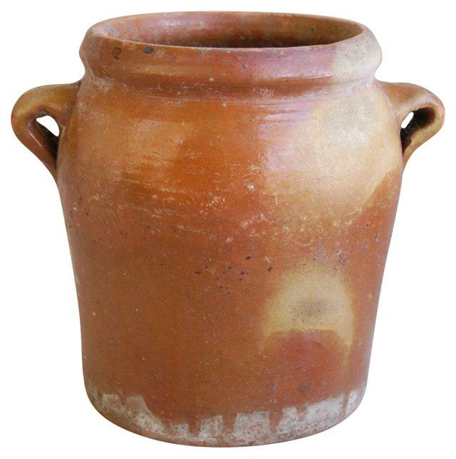 Antique French Glazed Confit    Pot