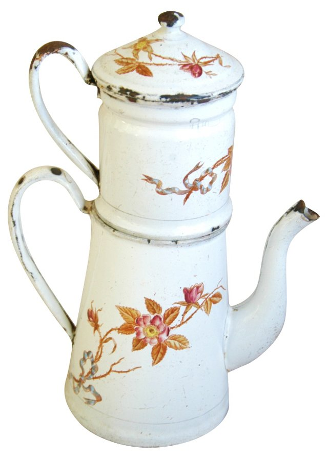 French Hand-Painted    Coffeepot