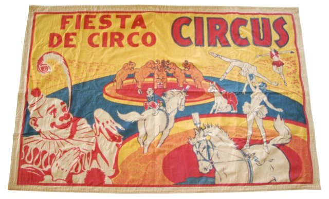 1950s Double-Sided Circus Banner