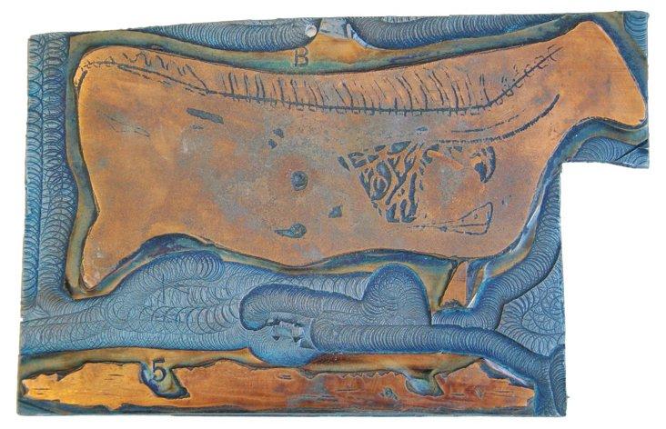 French  Bovine Anatomy Printing Plate