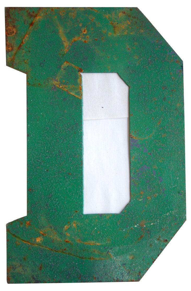Green Metal Marquee Letter D