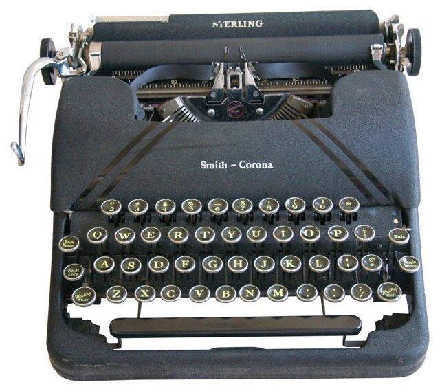 1950s Smith-Corona Typewriter & Case
