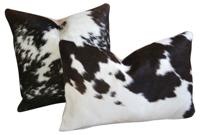 Cowhide      Pillows,     Pair