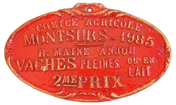 1985 French Award Trophy   Plaque