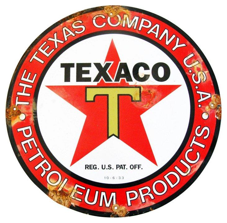 Porcelain on Metal Texaco Sign