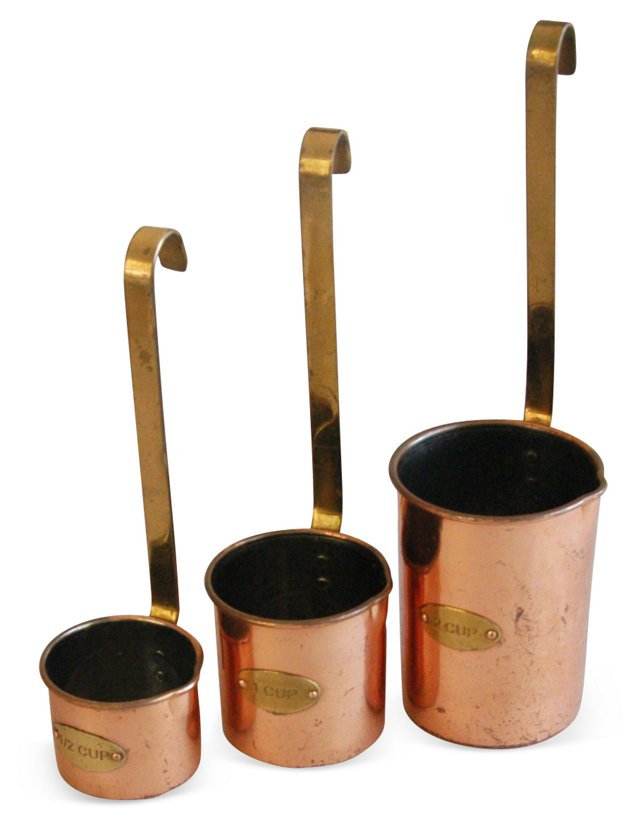 1950s     Copper & Brass Measures, S/3
