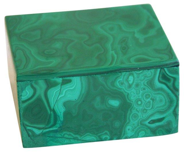 Malachite Gemstone   Trinket Box
