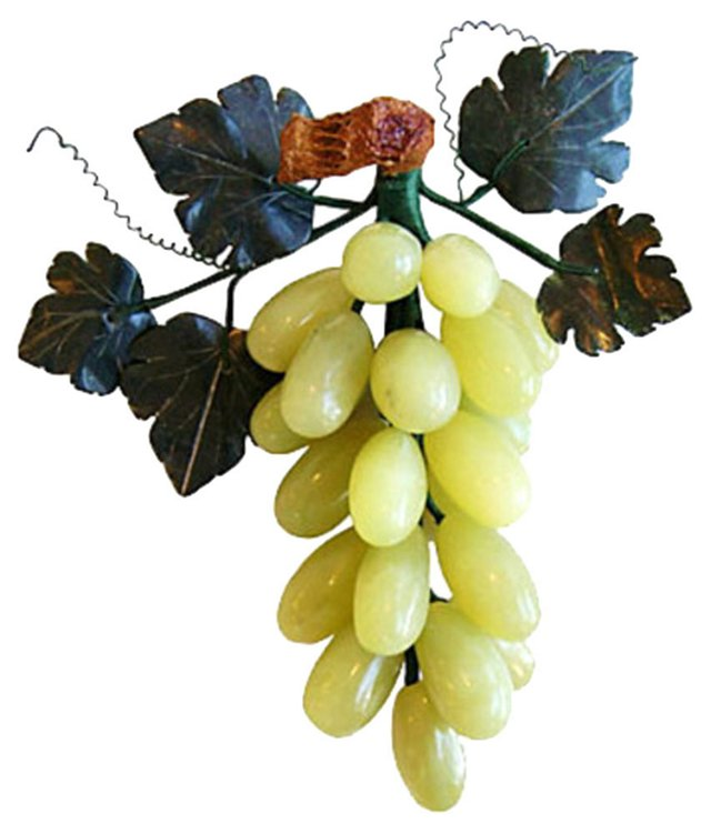 Carved Jade & Stone    Grape Bunch
